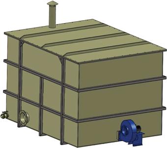 Biofiltre fermé de la série BV